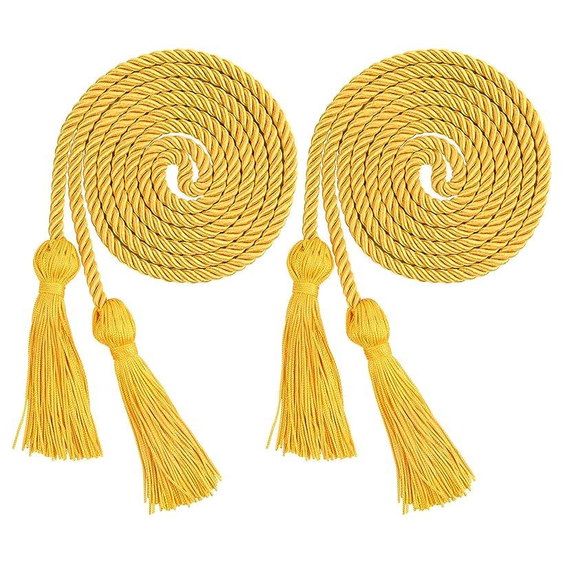 TUPARKA 2 PCS Gold Graduation Honor Cords Tassels Cord Polyester Cords for Graduation Students Bachelor's Uniform