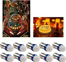 PA 10PCS #44#47#1893#756#1847 T11 ba9s 2 SMD 2835 LED 6.3V DC Wedge Pinball Gaming Machine Light Bulb Blue