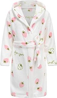 EPLAZA Kids Girl's Boy's Fuzzy Fleece Robe Warm Plush Hooded Bathrobes Cozy Sleepwear