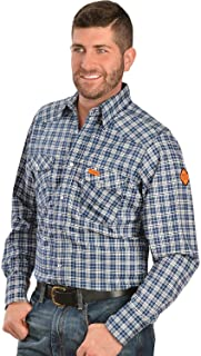 Men's Flame Resistant Western Two Pocket Snap Shirt