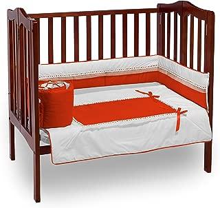 Baby Doll Bedding Royal Port-a-Crib Bedding Set, Orange