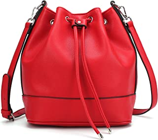 bucket bag red