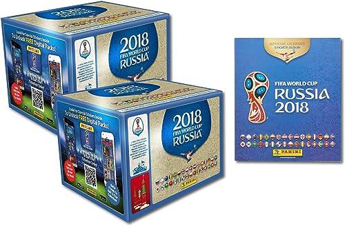 Panini Fifa World Cup 2018 - Sticker WM Russia 2018 -1 Album + Sticker - 2 Displays mit je 50 Tüten = 100 Tüten = 500 Sticker - Serie Besteeht aus 670 Bildern - Version NL, BE, LU und andere Tüten