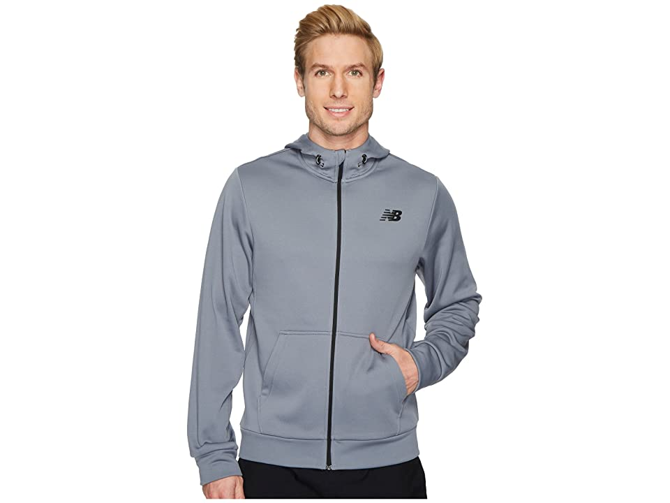 New Balance NB Corefleece Full Zip Hoodie (Gunmetal) Men