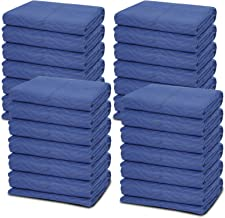 24 Moving Blankets - Deluxe Pro - 80 x 72 Inches (35 lb/dz) for Protecting Furniture Professional Quilted Shipping Furnitu...