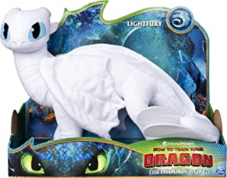 """Dreamworks Dragons Lightfury, 14"""" Deluxe Plush Dragon, for Kids Aged 4 & Up, Multicolor"""