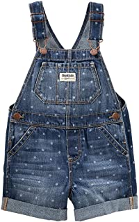 OshKosh B'Gosh Baby Star Denim Shortalls Size 9 Months