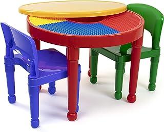 مجموعة العاب بناء بلاستيكية 2 في 1 مكون من طاولة وكرسيين لانشطة والعاب الاطفال من توت توتورز Red/Green/Blue/Yellow