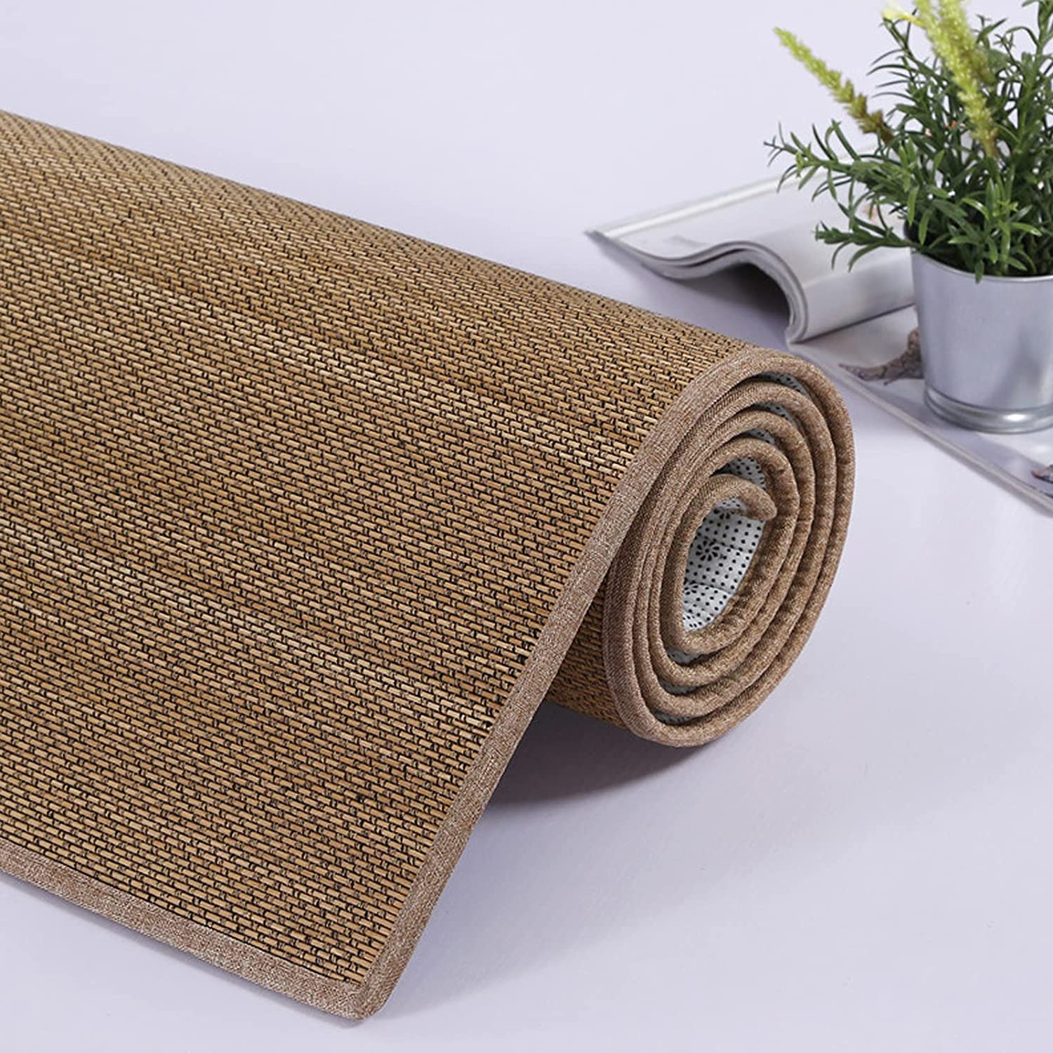 Geovne Multipurpose Bamboo Limited time for free shipping Indefinitely Area Floor Carbonized Rug Mat