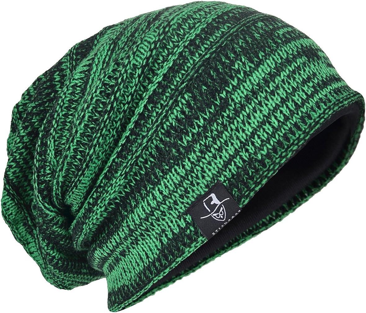 Men Oversize Skull Slouch Beanie Max 69% OFF 55% OFF Large Skullcap Hat Knit