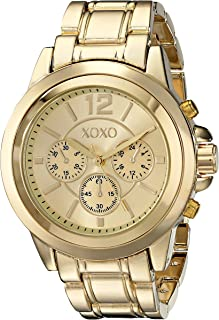 XOXO Womens Quartz Watch, Analog Display and Stainless Stell Strap - XO5589