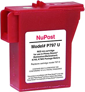 NuPost Compatible Red Postage Inkjet Cartridge for 797-0, 797-Q, 797-M, 800 (NPTK700)