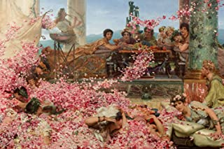 Introspective Chameleon Lawrence Alma Tadema - The Roses of Heliogabalus (1888) - Classic Painting Photo Poster Print Art Gift - Size: 24 x 16 Inches (61 x 40.5 cm)