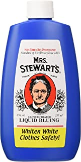 Mrs. Stewart's Concentrated Liquid Bluing Great for Laundry, 8 Ounce (Pack of 2)