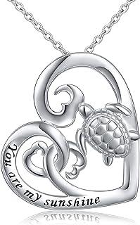 (Health and Longevity) S925 Sterling Silver Turtle Animal Earrings/Necklace/Ring/Bracelet for Women Girl