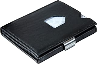 Leather Trifold Wallet - RFID Blocking w/Stainless Steel Locking Clip