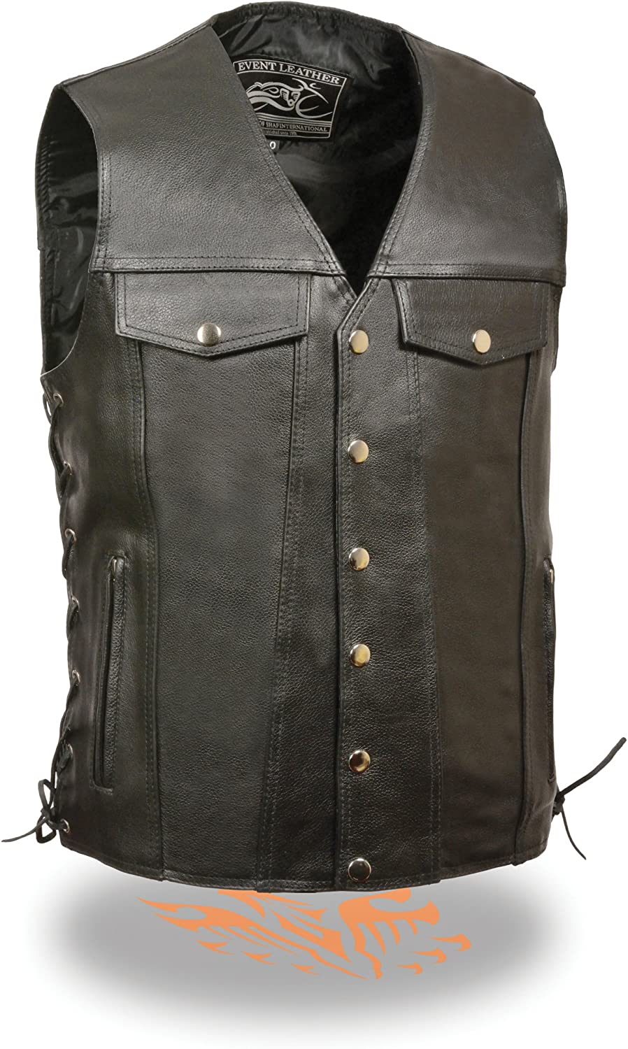 Velocitee Mens Vest Freedom Of The Road Eagle Biker Motorcycle A22511