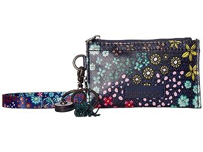 Sakroots Artist Circle ID Lanyard (Navy Floral Spirit) Wallet