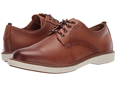 Florsheim Kids Supacush Plain Toe Ox, Jr. (Toddler/Little Kid/Big Kid) (Cognac Milled/White Sole) Boy