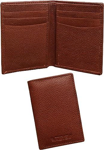 Genuine Leather Men Credit Card Holder Money Purse Pocket Wallet With 6 Card Slots 5136ABDQ OFFER