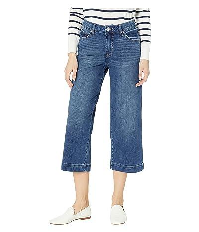 Jag Jeans Lydia Wide Leg Denim Crop in Brilliant Blue (Brilliant Blue) Women
