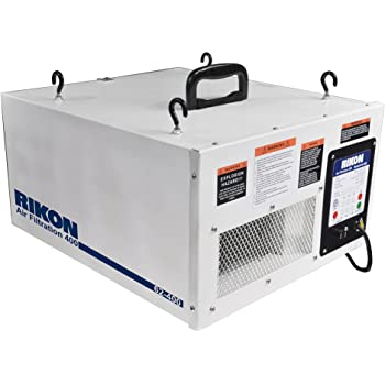 Rikon Power Tools 62-400 3-Speed Remote Control Air Filtration System, White