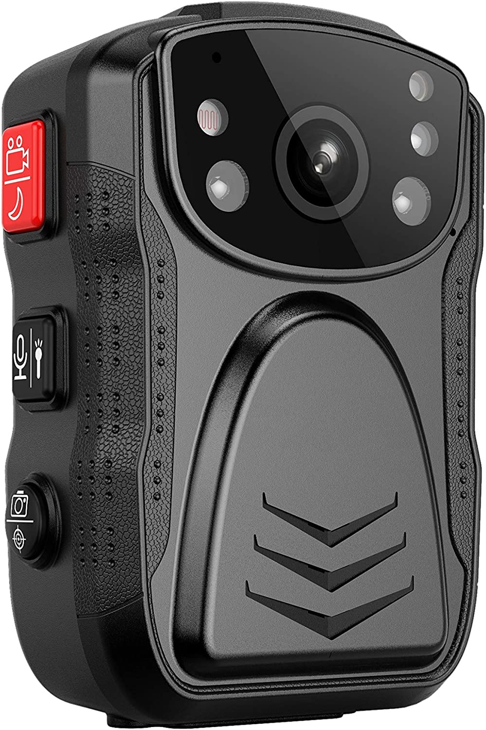 PatrolMaster 1296P UHD Body Camera with Audio (Build-in 128GB), 2 Inch Display, Night Vision, Waterproof, Shockproof, Body Worn Camera with Compact Design, Police Camera for Law Enforcement
