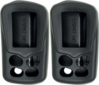 Keyless2Go New Silicone Cover Protective Cases for Viper Python Remote 479V - Black - (2 Pack)