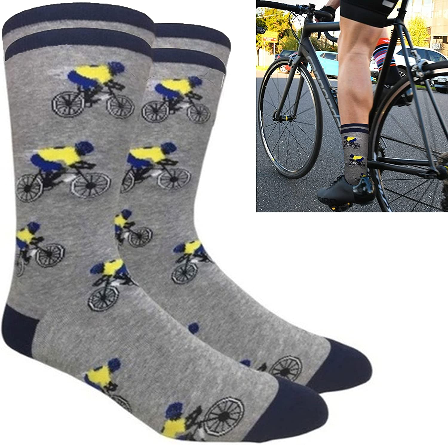 Bike Racer Crew Socks Cycling Gift Bicycle Unisex Casual Special sale item Mail order cheap Novelty
