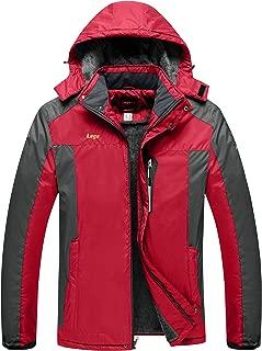 Lega Mens Warm Winter Coat Insulated Fleece Snow Jacket Waterproof Windproof Mountain Rain Jacket