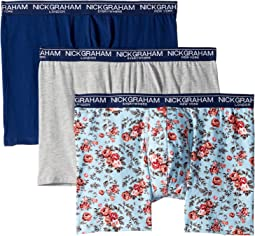 Heather Grey/Blue Floral/Navy
