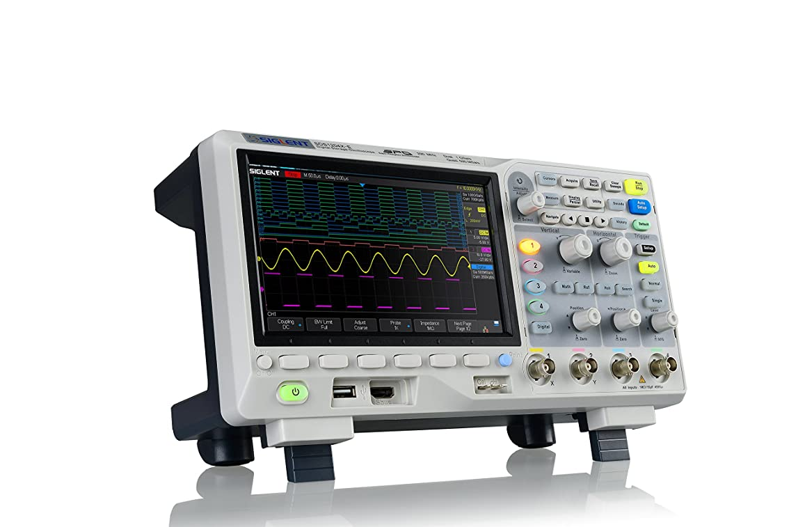 傷つきやすい収束扇動Siglent SDS1104X-E 100Mhz デジタルオシロスコープ 4チャンネル 標準デコーダ