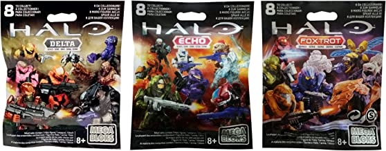 Mega Bloks Halo Delta, Echo & Foxtrot Series Mini Figure Blind Bags (1 Pack of Each)