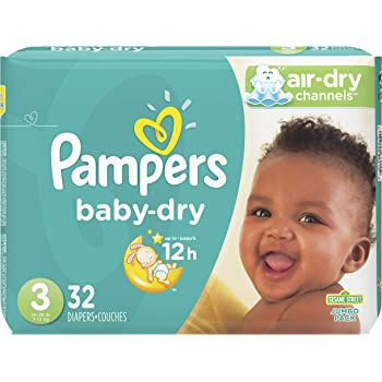Pampers Cruisers Baby Dry Diapers, Size 3, 32 Count