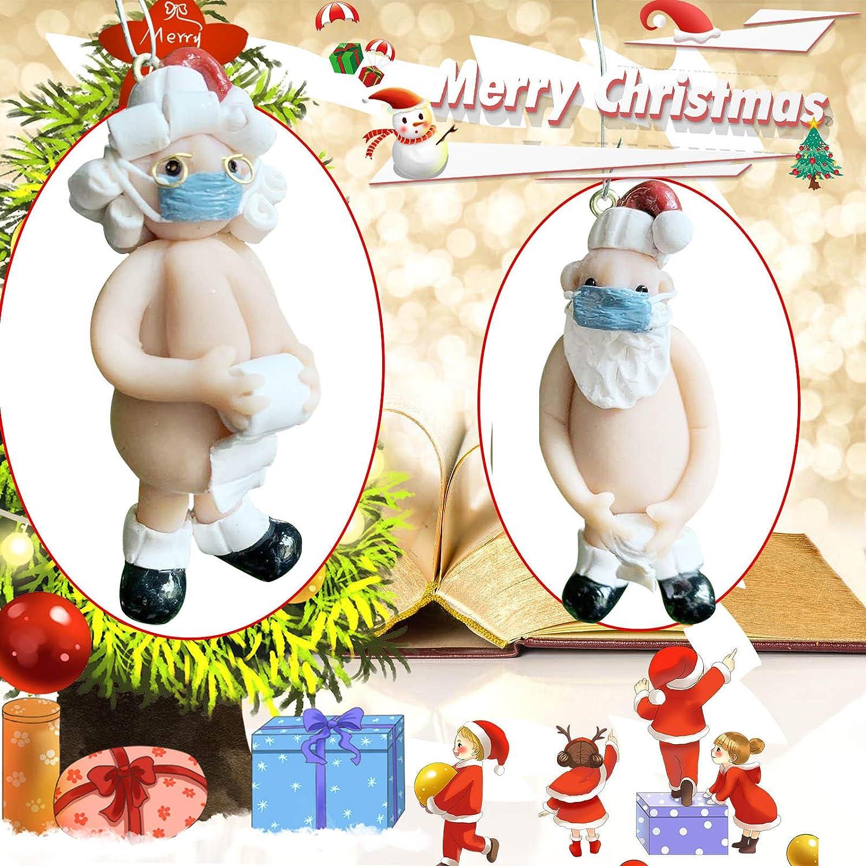 Naughty Rude Santa Christmas Ornament Stocking Cap Santa Ornament Multi B, 1PC Y56 2020 Naked Santa Novelty Hanging Christmas Tree Decoration Xmas Tree Decoration Pendant Baubles