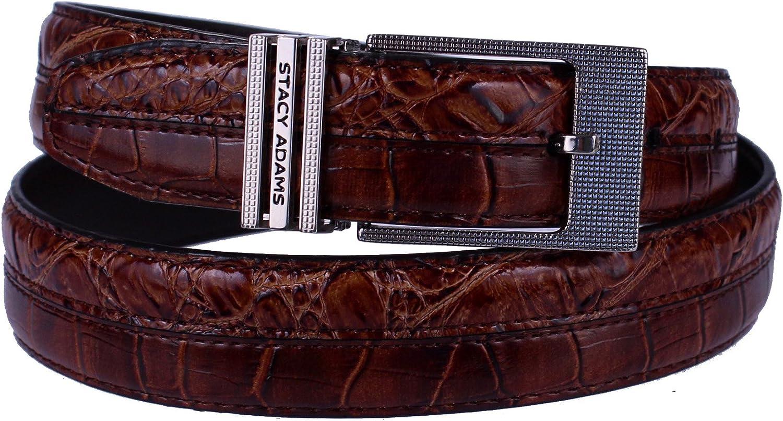 Stacy Adams 6-179 Hornback and Croco Embossed Mens Adjustable Belt