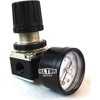 """Regulador De Presión De Aire Para Compresor 1//4/"""" y 1//8""""NPT Puerto de calibre R152N con Soporte"""