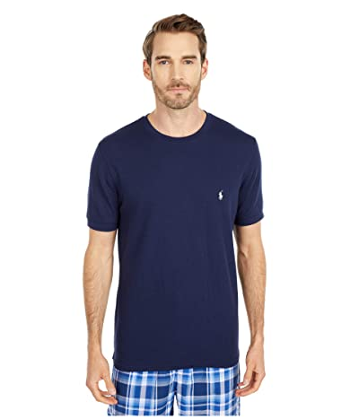 Polo Ralph Lauren Waffle Short Sleeve Crew (Cruise Navy/White Pony Player) Men