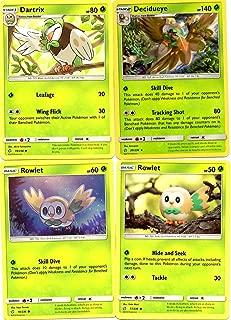 Pokemon Evolution Set - Decidueye 20/236 - Sun Moon Cosmic Eclipse - Holo Rare - 4 Card Lot