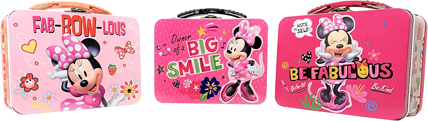 Set Of Three A surprise price is realized Small Lunch Boxes. Year-end annual account For Minnie Mouse Kid Boxes