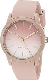 Nine West - Reloj de pulsera para mujer (correa de silicona)