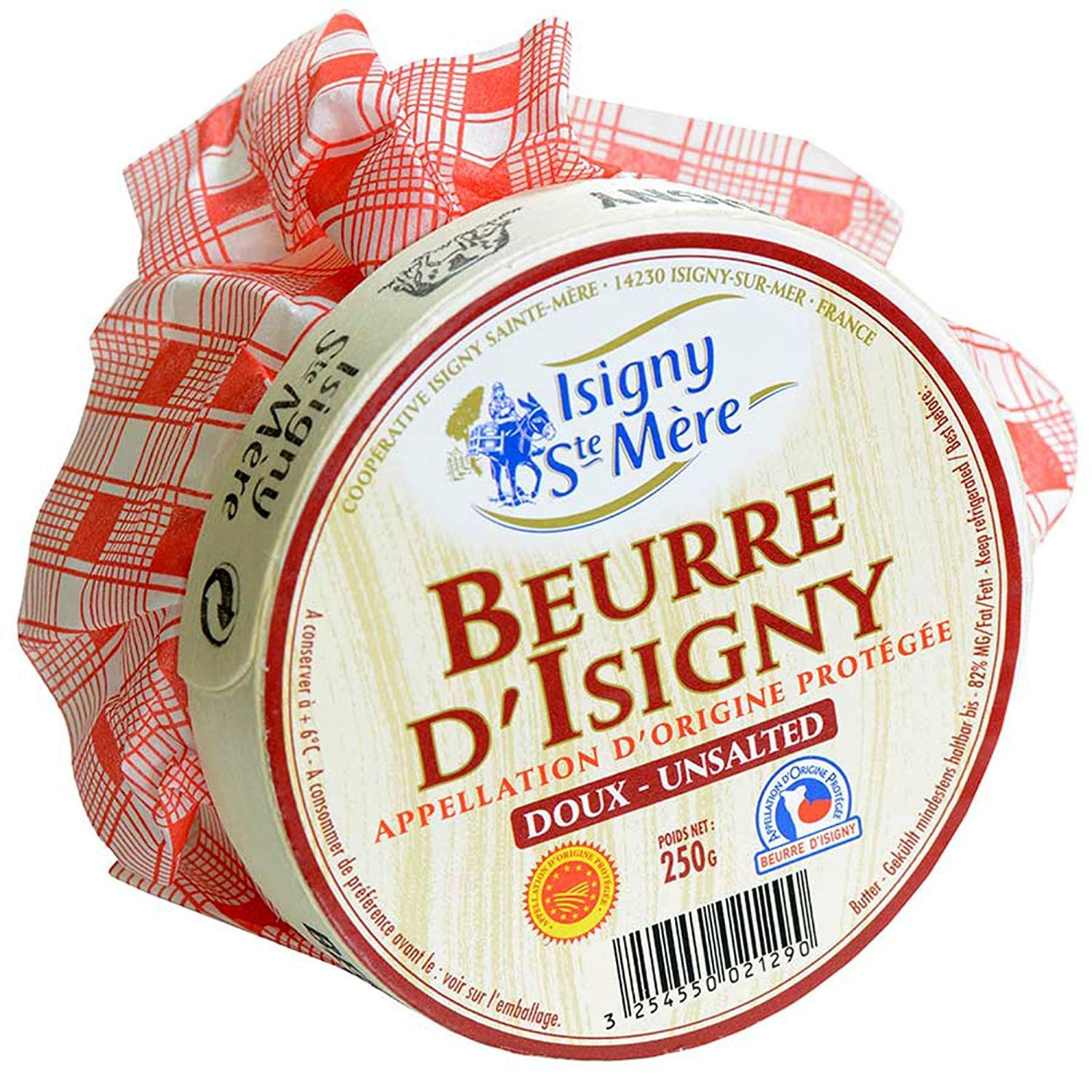 Isigny French overseas Normandy Unsalted Butter Basket packs x – 8 6 Luxury