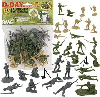 54mm D-Day June 6, 1944 - The Invasion of Normandy Figure Playset (34pcs) (Bagged) BMC
