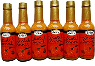 Grace Scotch Bonnet Hot Pepper Sauce 4.8oz - (6 Pack)