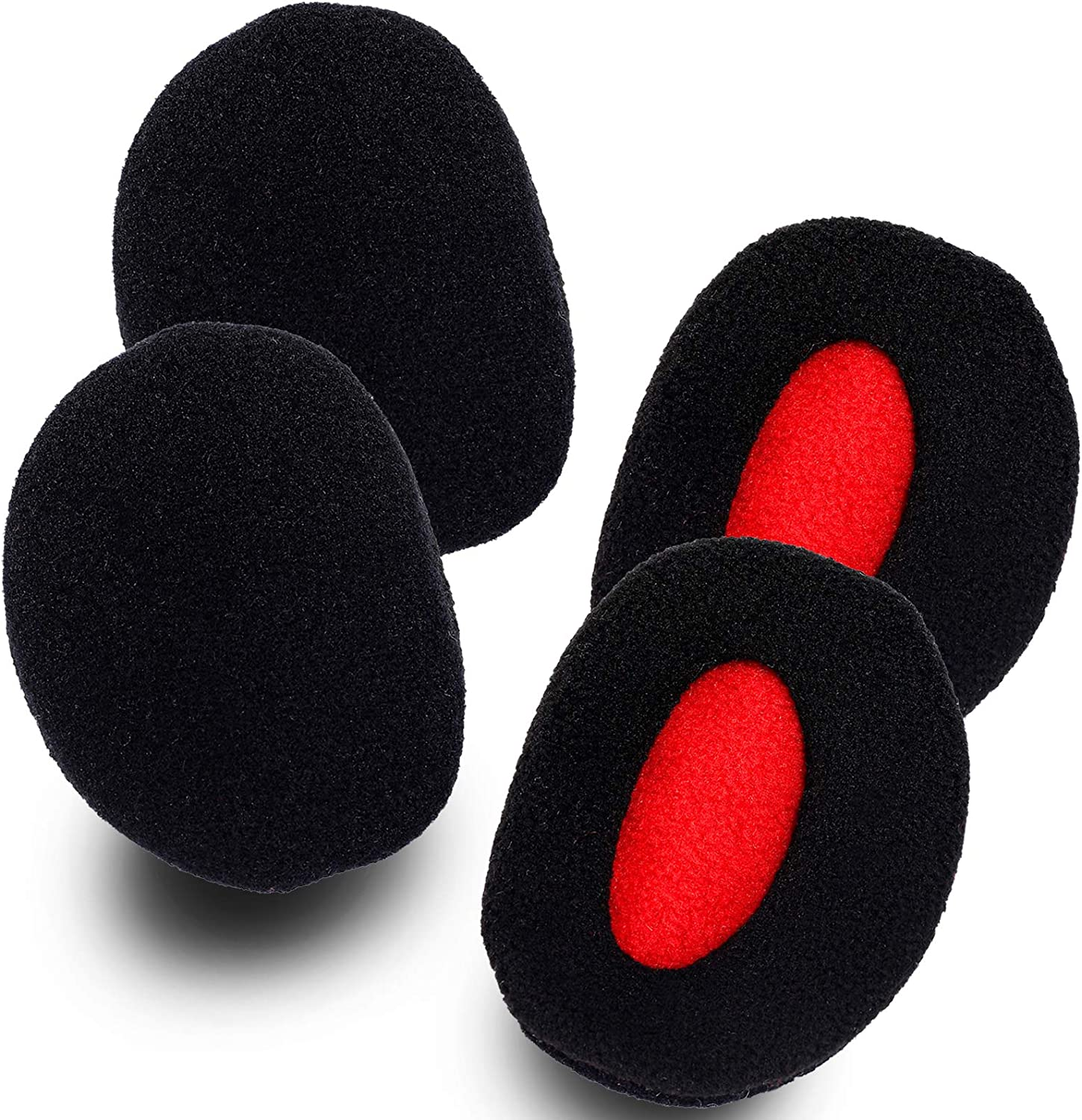 2 Pairs Ear Muffs, Fleece Bandless Ear Warmers with Thinsulate Winter Ear Covers for Men Women