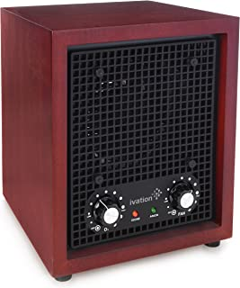 Ivation Ozone Generator Air Purifier, Ionizer & Deodorizer -Purifies Up to 3,500 Sq/Ft -Great for Dust, Pollen, Pets, Smoke & More Cherry