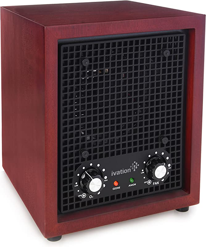 Ivation Ozone Generator Air Purifier Ionizer Deodorizer Purifies Up To 3 500 Sq Ft Great For Dust Pollen Pets Smoke More Cherry