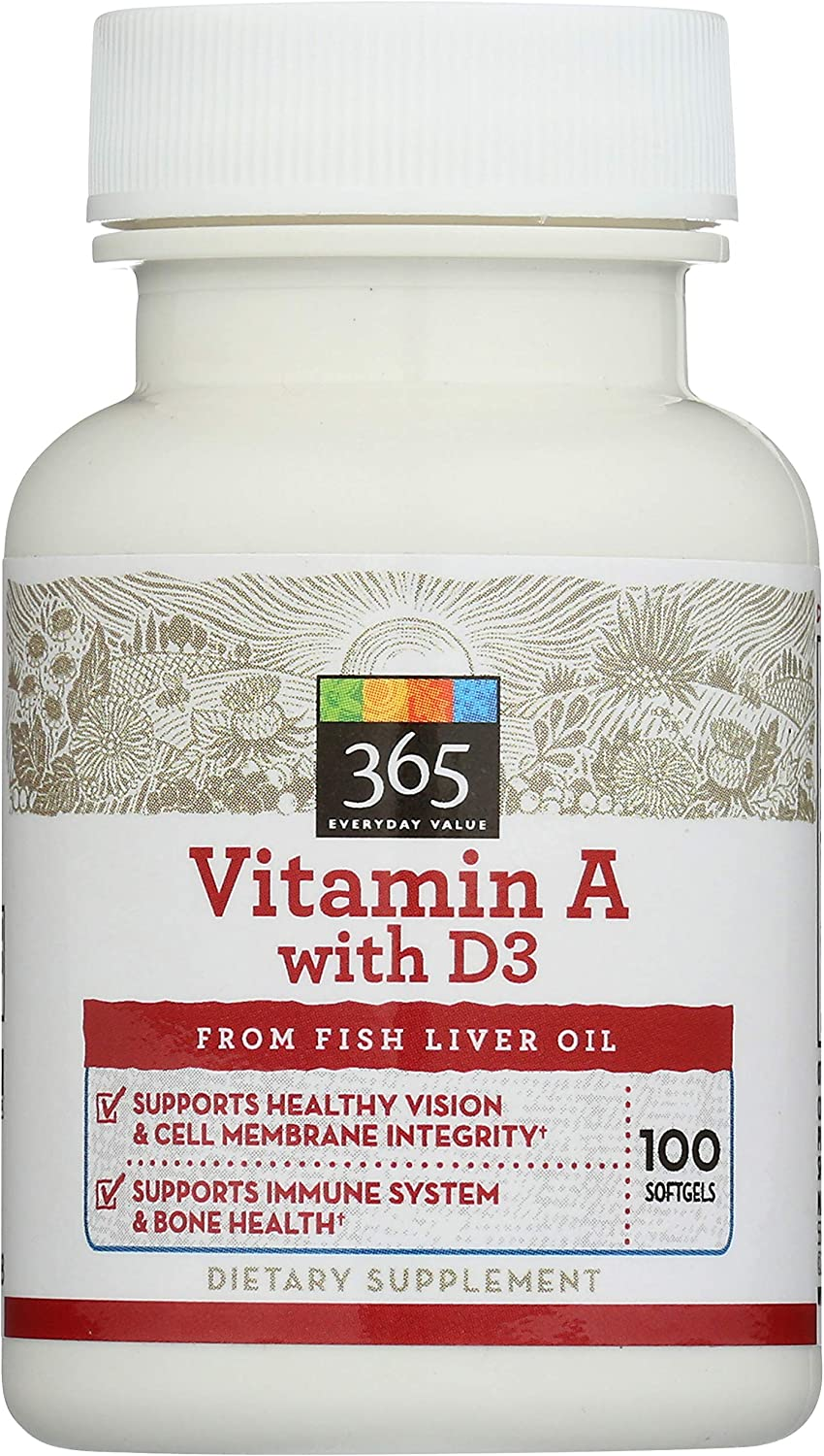365 by WFM Vitamin A 2021 new 40% OFF Cheap Sale 100 D3 With Softgels