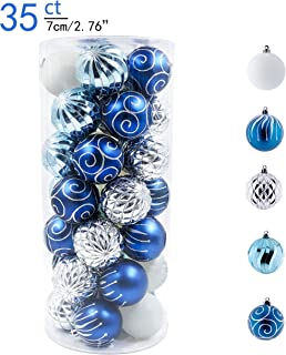 blue silver ornaments