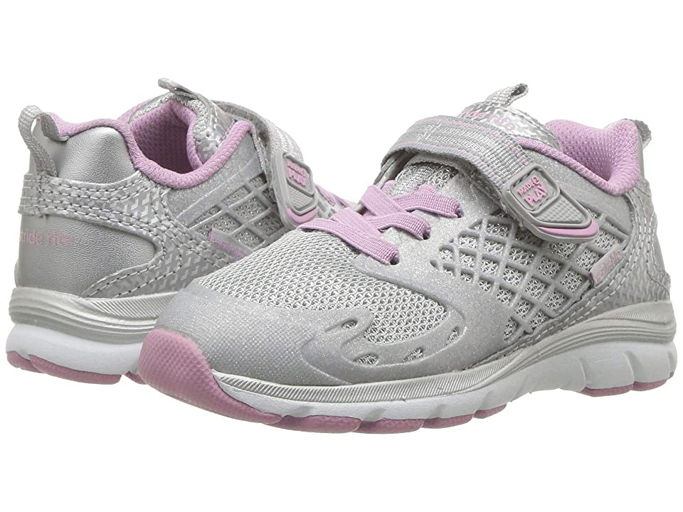 Stride Rite M2P Cannan (Toddler) (Silver/Mauve) Girls Shoes